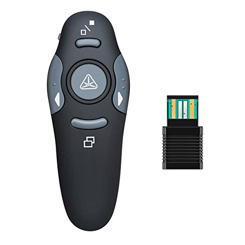 BlueBeach® Wireless USB Presenter Powerpoint Fernbedienung Laserpointer für PPT / Keynote / Prezi / OpenOffice / Windows / Mac OS / Android / Linux