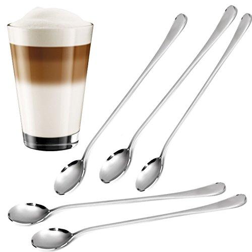12 Stück Longdrinklöffel Set aus Edelstahl Dessert-löffel Latte Macchiato, Cafe. Ideal für den Einsatz in der Küche, Hotels, Restaurants, Bars - STAR-LINE®