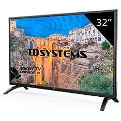 Téléviseur 32 Pouces LED HD Smart TD Systems K32DLM8HS. TV HD 1366 x 768, 3X HDMI, VGA, 2X USB, Smart TV