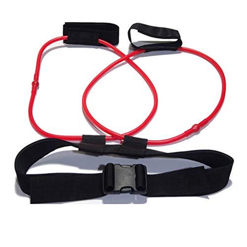 Ewendy Bein Training Band Muskeltraining Seil Widerstand Übung Gürtel für Frauen Männer, Workout Stretching Latex Seil für Beine Physikalische Therapie Yoga Home Gym Fitness - 10/20 / 30lbs (rot) -