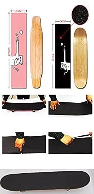 Black Temptation Skateboard Grip Band Blatt Blase Freie Scrub Aufkleber Abriebfeste Anti-Rutsch, schwarz#17