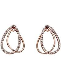 10580d829 Fiorelli Fashion Women Gold Crystal Dangle & Drop Earrings of Length 0.2cm  Xe1491C
