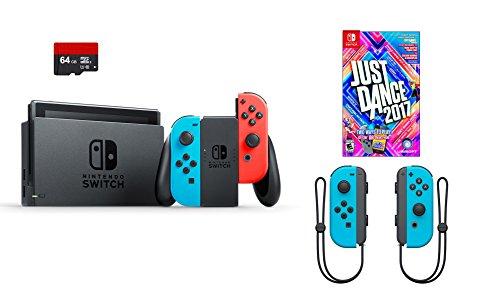 nintendo-swtich-4-items-bundlenintendo-switch-32gb-console-neon-blue-and-neon-red-joy-con64gb-micro-