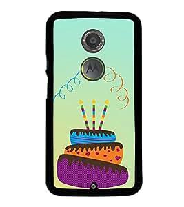 Birthday Cake 2D Hard Polycarbonate Designer Back Case Cover for Motorola Moto X2 :: Motorola Moto X (2nd Gen) :: Motorola Moto X 2014 :: Motorola Moto X+1