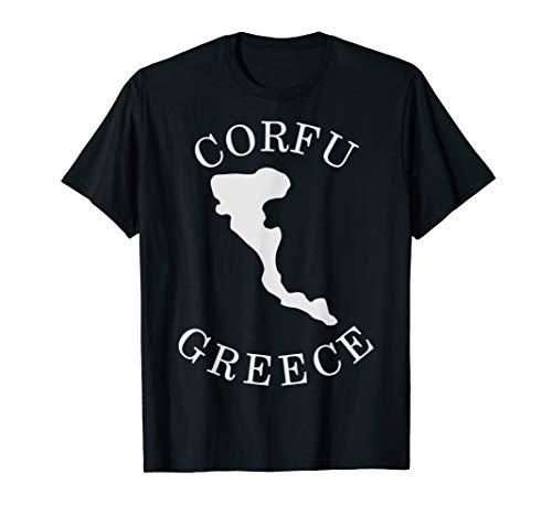 Greece Corfu Map Korfu Greek T-Shirt -