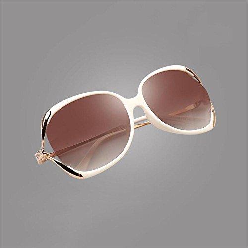 Sonnenbrillen Sonnenbrille Tide Fashion rundes Gesicht Elegante großes Feld Hohle Diamant-Fahren polarisierten Sonnenbrillen Schütze Deine Augen