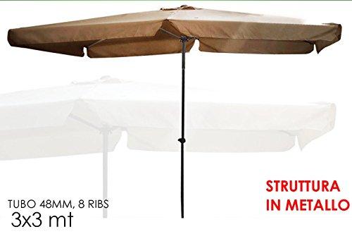 Ombrellone ombrelloni da giardino 3x3 mt 8 stecche piscina terrazzo art 804522 negozio di - Ombrelloni da giardino offerte ...