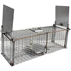 TRAPGALLIER piège galvanisée Capture 2 entrées Rats, rongeurs ou Animaux de Taille similaire Fabrication Française