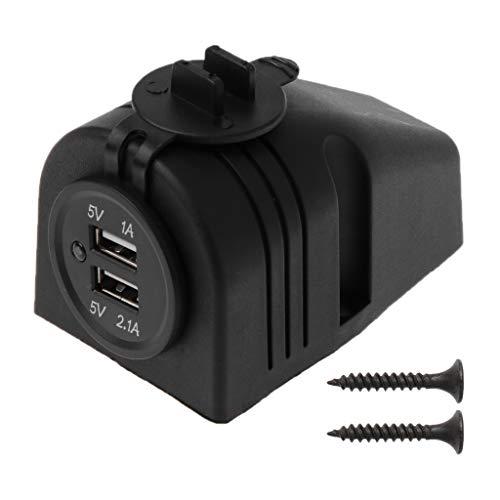JENOR 12V 24V Armaturenbretthalterung Dual USB Panel Ladegerät Adapter Für Auto Boot Marine Truck Dual-marine Audio