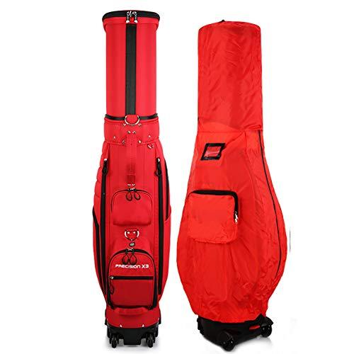 Zdebiao Golftasche Golf Cart Golf Rack Bag Golfreisetasche mit Rollen