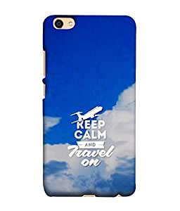 Fuson Designer Back Case Cover for Oppo F3 :: A35 (Keep Calm Be Quiet BE Cool Aeroplane Blue Sky)