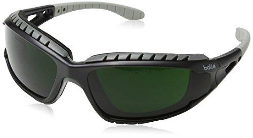 Bollé - Occhiali di sicurezza da saldatura'Tracker' TRACWPCC5, taglia unica 12,7cm –neri