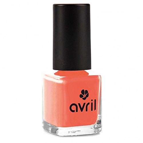 AVRIL - Vernis à Ongles Vegan Sans produits Chimiques - Corail 02 - Application Facile, Non Testé sur les Animaux - 7ml