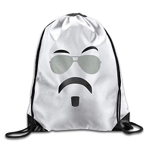 DHNKW AOOPK Soul Patch & Shades Cool Gym Drawstring Bags Travel Backpack Tote School Rucksack