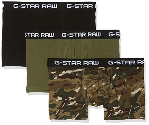 G-STAR RAW Herren Classic Truk Camo 3-Pack Badehose, Mehrfarbig (Khaki Ao/Sage/Dk Black A411), Medium -