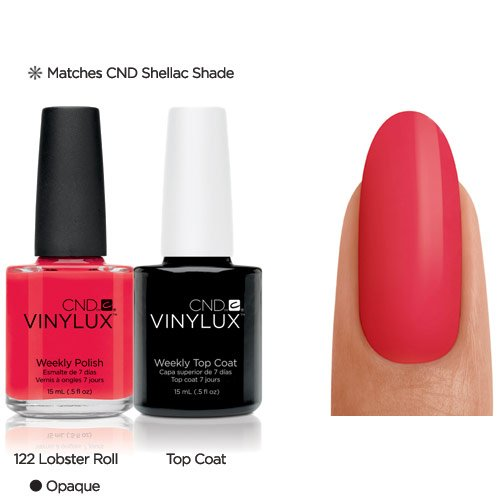 Vinylux CND Duo - Top Coat plus Lobster Roll, 1er Pack (1 x 30 g)