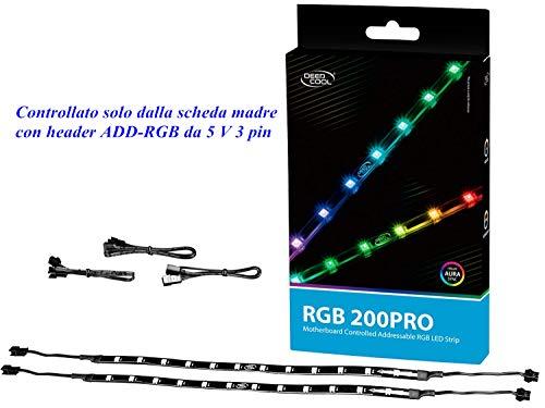 DEEPCOOL RGB 200Pro 550mm Caja Ordenador LED RGB Tira