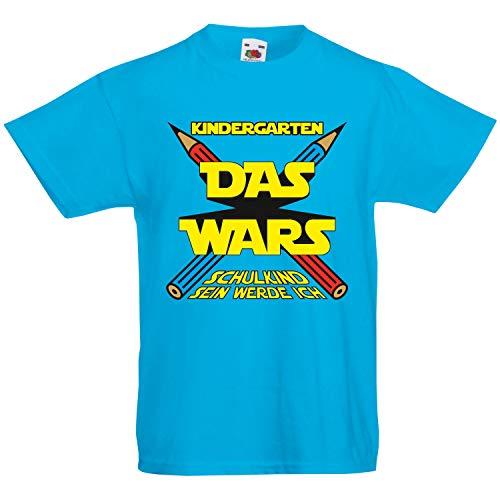 Shirt-Panda Kinder T-Shirt Einschulung - Kindergarten das Wars Schulkind Sein werde ich - Türkis 128