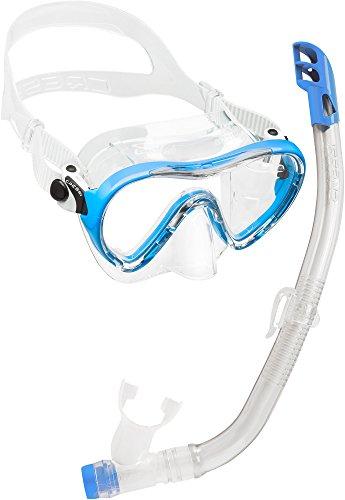 Cressi Unisex - Kinder Schnorchelset Ondina Top, blau, DM1010132