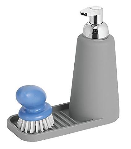 Evier Inox 1 5 Bacs - mDesign Foaming Soap Dispenser Pump and Sponge