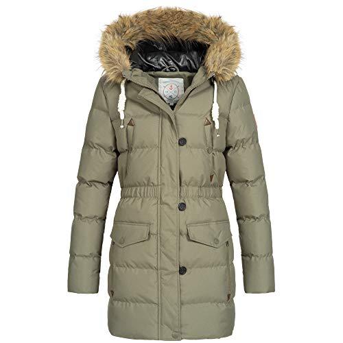 Azuonda Damen Winter Jacke Mantel Winterjacke Parka warm gef