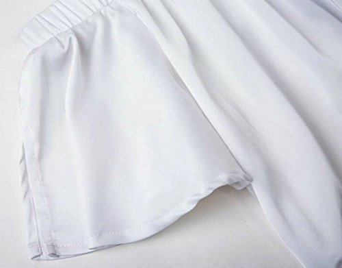 erdbeerloft - Damen Strandkleid mit Blumen Print, XS-XL, Viele Farben Weiß
