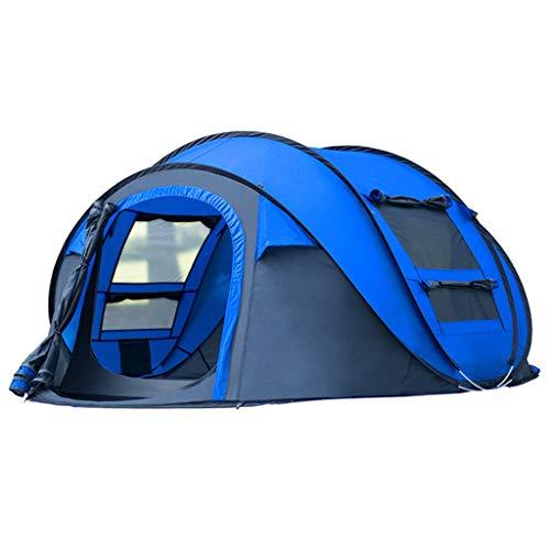 Yunyisujiao vollautomatischer Sonnenschutz, schnellöffnend, wasserfest, tragbar, für Familie, Camping, Zelt, Belüftung, gelb -