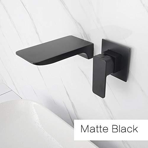 Wall-Montierten Wasserfall-Badezimmer-Wasserhahn Verkauft Messing Luxus-Polnisches Goldbecken Wasserhahn Heiß & Cold Black & Rose & Brushed Gold Matte Black