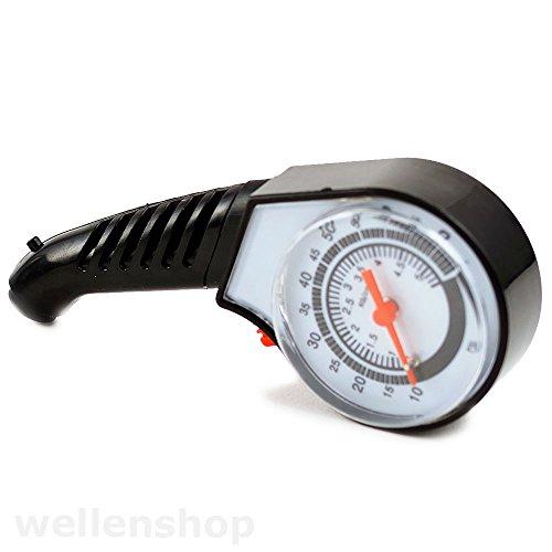 wellenshop Reifendruckmesser Luftdruck-Manometer 0,5-5bar Reifenprüfer Luftdruckmesser Reifen Prüfer Prüfung Luftdruck