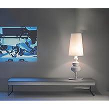 wysm Moderna lámpara de mesa simple grandes y pequeñas Mesita de luz de la lámpara de estar Sala de Estudio lámpara de escritorio de la decoración del hotel lámpara de mesa ( Color : Medio )