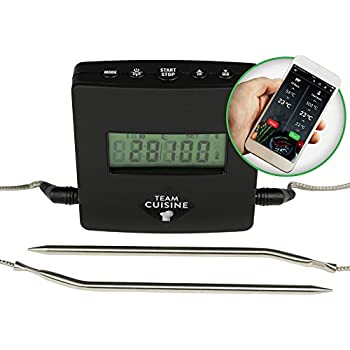 team cuisine grillthermometer bluetooth bratenthermometer. Black Bedroom Furniture Sets. Home Design Ideas