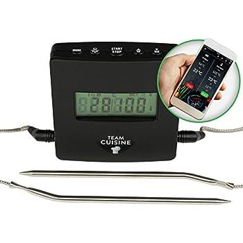 team cuisine grillthermometer bluetooth bratenthermometer digitales funk kernthermometer ideal. Black Bedroom Furniture Sets. Home Design Ideas