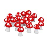 #4: Generic Toys 20pcs Dollhouse Bonsai Fairy Garden Landscape Mushroom Decor Red