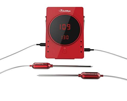 Grilleye Smart Bluetooth Thermometer, rot