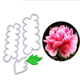 #8: WHBLLC 3PCS Cookie Cutters Plastic Peony Flowers Cake Fondant Cookie Mould DIY Decorating Tools