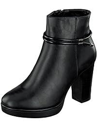 Café Noir CAF NOIR MD221 bottes en cuir noir femme prise crampons talon zi Nero - Chaussures Bottine Femme