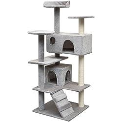 Festnight Rascador para Gatos Escalador para Gatos 67 x 67 x 125 cm