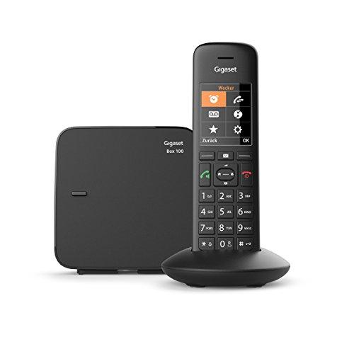 Gigaset C570 schnurloses Telefon (ohne Anrufbeantworter, Komfort mit großer Nummernanzeige, DECT-Telefon mit Farbdisplay, einfache Bedienung) schwarz -
