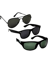 4243998240 Sheomy UV Protect Fashion Wayfarer Goggle and Sunglasses for Men Women Boys  and Girls with Hard