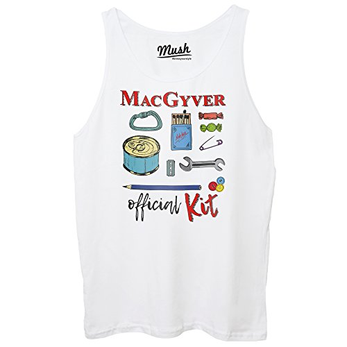 MUSH Canotta MacGyver Official Kit - Film Dress Your Style Bianca