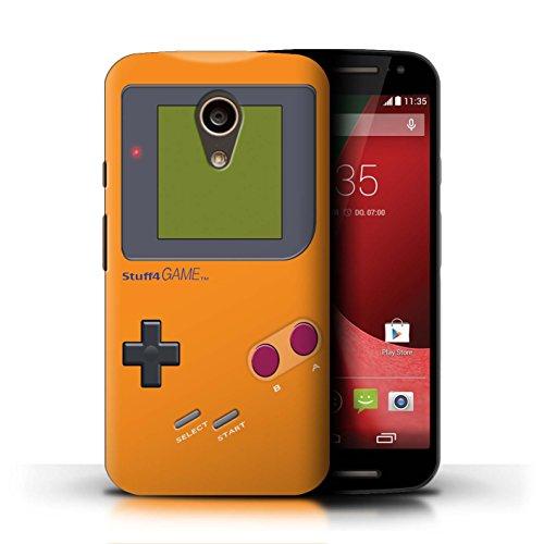 Stuff4® Hülle/Case für Motorola Moto G (2014) / Orange Muster/Videogamer/Gameboy Kollektion - Gameboy Moto Case Motorola G