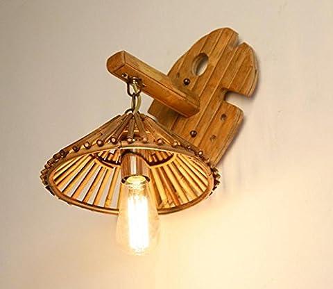 Lampe Murale En Bambou E27 En Acier Antiquité Bracelet En