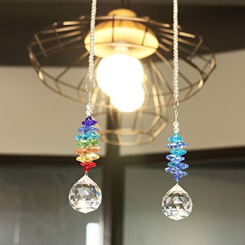 YUFENG - Lámpara de Techo Colgante de Cristal con diseño de ángel, Ball Set of 2