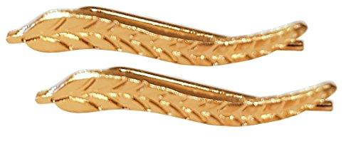 EROSPA® Ohrstecker Vintage Ohrringe Blatt Feder Earring Ohrschmuck Ohrclip für Frauen Mädchen goldfarben