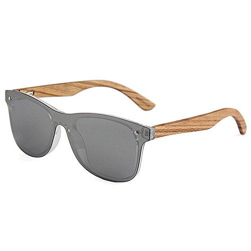 Ppy778 Unisex Polarized Sonnenbrillen Federscharnier Holzrahmen UV 400 Schutzglas (Color : Green)