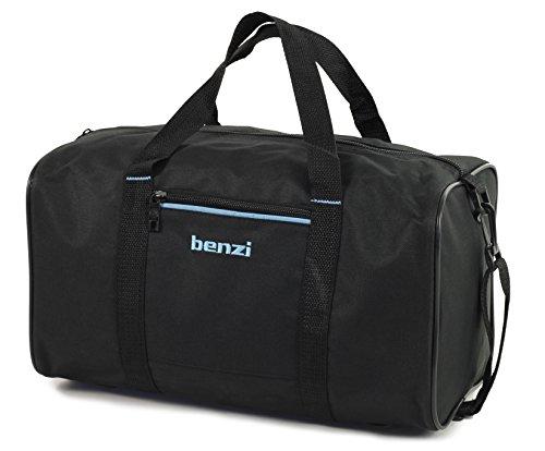Benzi Reisetasche Ryanair Kompatibel Zweite Hand Gepäck 35 x 20 x 20cm - Marineblau/Weiß, S Schwarz/Blau