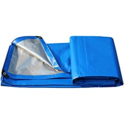 DLDL Lona Impermeable de Doble Cara Aislamiento Exterior Resistente al Aire Libre Trampa Resistente a la Lluvia Cubiertas de sábanas Cobertores de Tela Espesar Carpa antiedad Cobertor para sombrilla,