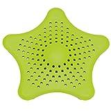 HENGSONG Küche Badezimmer Antiverstopfungs Mesh Schmutzfänger Haar Filter Silikon Abflusssieb Abfall (Grün)
