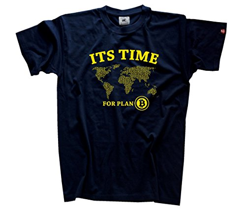 Bitcoin - Its time for Plan B T-Shirt navy L