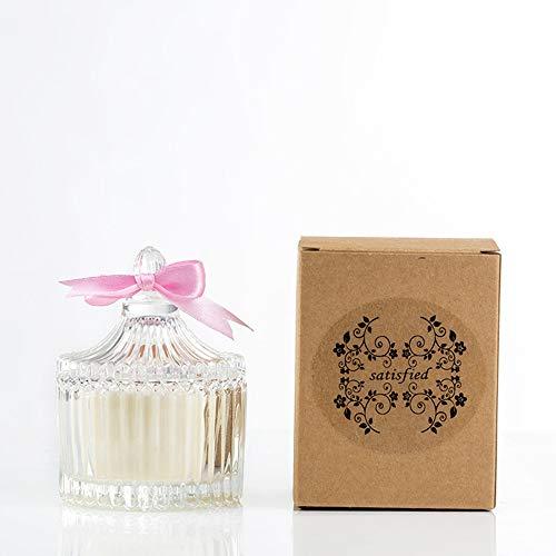 Kerze Soja-Aromatherapie-Kerze Kreative rauchfreie Glaskerzen-Feiertags-Hochzeitsgeschenke mögen Kalk-Basilikum -